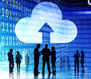 Cloud Network Connection Inforpmation Share Storage Concept Royalty Free Stock Photography