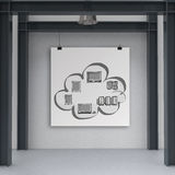Cloud network diagram on poster Royalty Free Stock Images