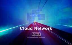 Cloud Network Digital Information Storage Concept Royalty Free Stock Image