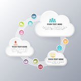 Cloud Network Exchange Royalty Free Stock Photos
