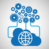 Cloud network globe earth connection design Stock Image