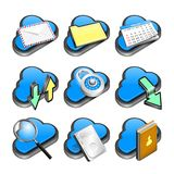 Cloud network icon Stock Images