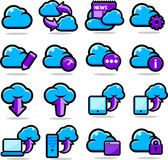 Cloud Network icons set Royalty Free Stock Photography