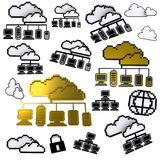 Cloud network pixel icon Royalty Free Stock Image