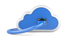 Cloud with a network plug. Royalty Free Stock Image