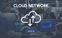 Cloud Network Storage Data Information Technology Concept Stock Photos