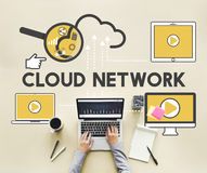 Cloud Network Storage Technology Connection Concept Royalty Free Stock Photography