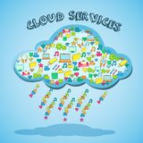 Cloud network technology service emblem Stock Images