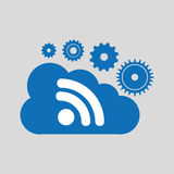 Cloud network wifi technology connection design. Vector illustration eps 10 Stock Photos