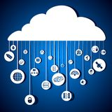 Cloud Networking Royalty Free Stock Image