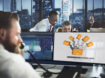 Cloud Networking Computing Back Up Concept Stock Images