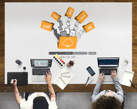 Cloud Networking Computing Back Up Concept Stock Image
