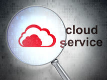 Cloud networking concept: Cloud and Cloud Service Stock Photo