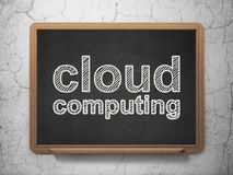 Cloud networking concept: Cloud Computing on Royalty Free Stock Photography