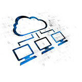 Cloud networking concept: Cloud Network on Digital background Royalty Free Stock Photography