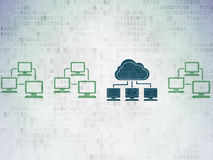 Cloud networking concept: cloud network icon on Royalty Free Stock Photos