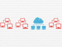 Cloud networking concept: cloud network icon on Stock Photography