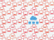 Cloud networking concept: cloud network icon on Stock Image