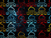 Cloud networking concept: Cloud Network icons on Royalty Free Stock Photo