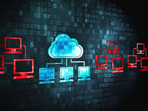 Cloud networking concept: Cloud Technology on digital background Stock Photography