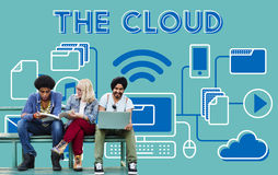 The Cloud Networking Connection Data Concept Royalty Free Stock Photography