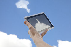Cloud Networking Download Upload From The Cloud Royalty Free Stock Images