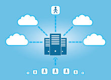 Cloud Networking royalty free illustration