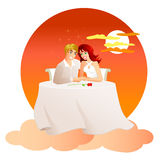 On Cloud Nine-The Perfect Date Royalty Free Stock Photo