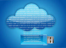 Cloud one usb key that contains data Stock Photography