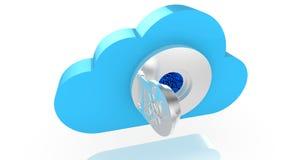 Cloud open vault door revealing a circuit Royalty Free Stock Photo