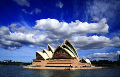 Cloud on Opera house Royalty Free Stock Images