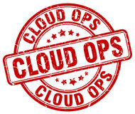 Cloud ops red stamp Stock Photography