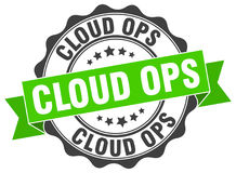 Cloud ops seal Royalty Free Stock Photography