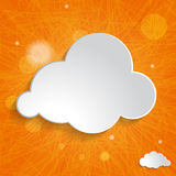 Cloud on an orange striped background Stock Photo
