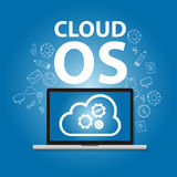 Cloud OS operating system laptop online internet concept computer engineering gear Royalty Free Stock Photography