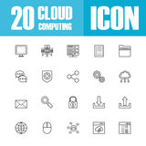 Cloud outline icon Royalty Free Stock Image