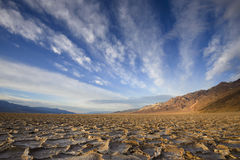 Cloud over badwater Stock Image