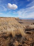 Cloud over Book Cliffs, Utah royalty free stock images