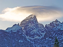 Cloud over Grand Teton Royalty Free Stock Photography