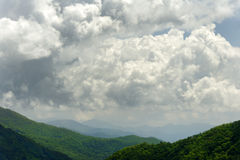 Cloud Over Green Mountain Stock Image