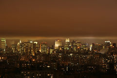 Cloud over New York skyline Stock Images