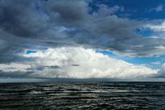 Cloud over sea. Stock Photo