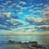 Cloud over the sea Royalty Free Stock Photography