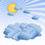 Cloud over the sky with sun Royalty Free Stock Images