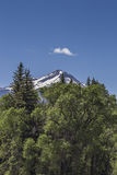 cloud over the snow peaks at Paonia State park, Colorado. United States of America Stock Images