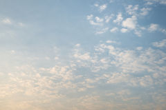 Cloud over yellow and blue sky Stock Image