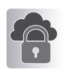 Cloud padlock connect icon Royalty Free Stock Photography