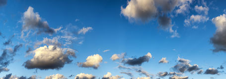 cloud panoramę Zdjęcia Stock