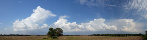 Cloud panorama Stock Images