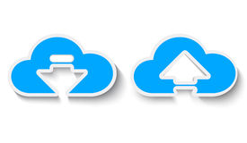 Cloud paper Royalty Free Stock Photography